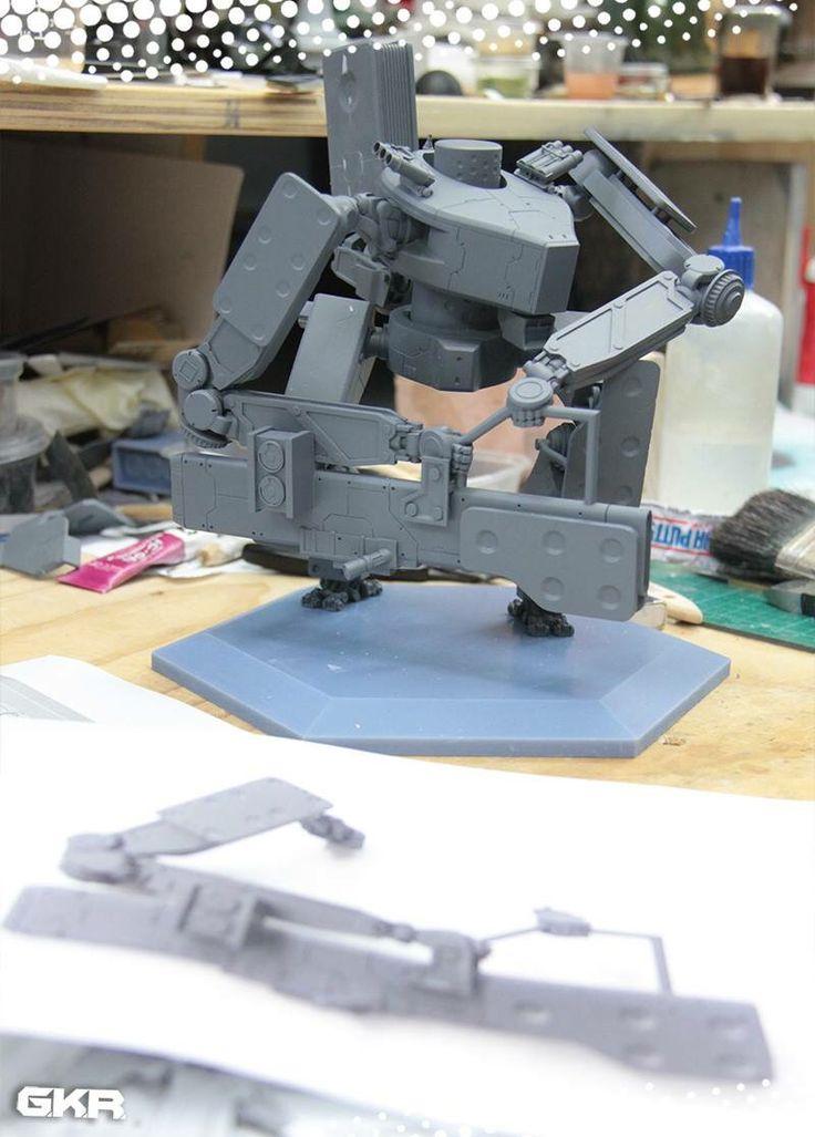 Thunderstrike under construction. Unpainted 3D print.