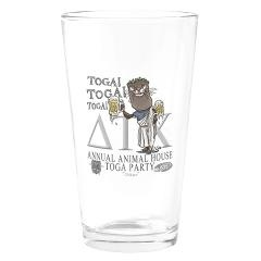 Otter Toga party Drinking Glass  Animal House Toga Toga Party gear for fans of the Classic Animal House Movie. Featured is Otter in a toga with a couple mugs of beer from Delta House.