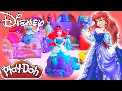 disney princess play doh youtube video ariel fun toys for kids magiclip princesses youtube. Black Bedroom Furniture Sets. Home Design Ideas