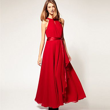Women's Sexy/Beach/Party Off-the-shoulder/Round Sleeveless Dresses (Chiffon) – EUR € 169.90
