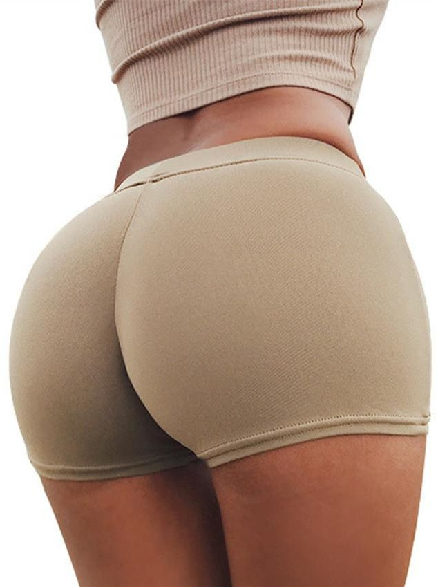 Yeezy Street Sport Style Neutral Colour Sexy Buttocks Basic Shorts