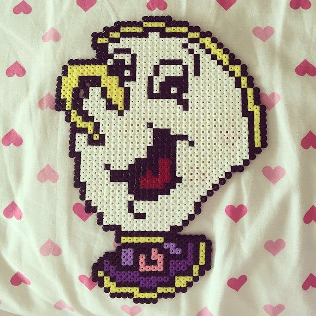 Chip - Beauty and the Beast hama beads by amyycupcake