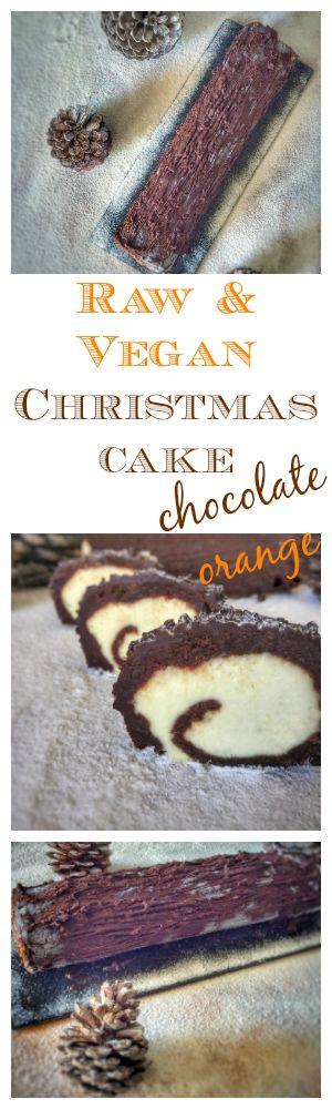 French Christmas cake chocolate orange #vegan #raw #glutenfree