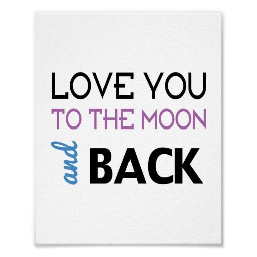 Love You (standard picture frame size) #love  #moon  #zazzle
