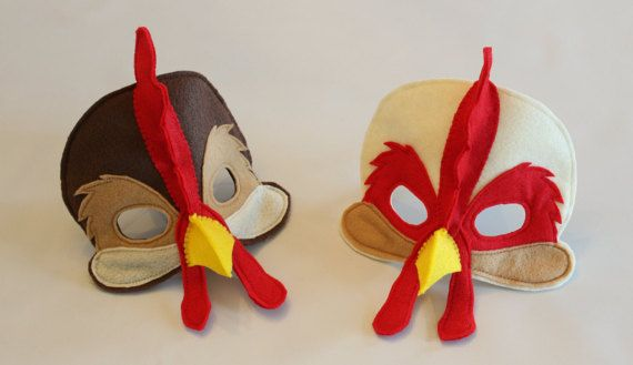 Ozzy or Leonard  Rooster Mask for Pretend Play by HuntingFaeries