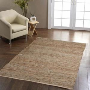 interesting tapis cuir madras couleur naturelle x cm with. Black Bedroom Furniture Sets. Home Design Ideas