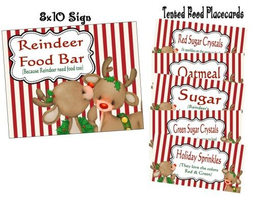 Reindeer Food Bar Printables Reindeer Food Bar Pinterest
