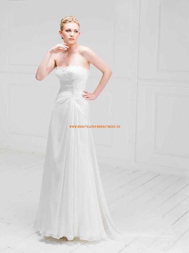 907 best Brautkleider aus Satin images on Pinterest | Short wedding ...