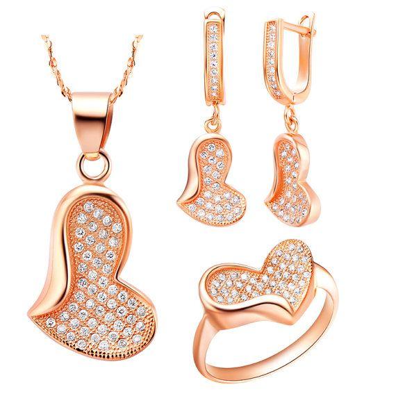 Promise Jewelry Set Heart Shaped Jewelry by UloveFashionJewelry, $19.66