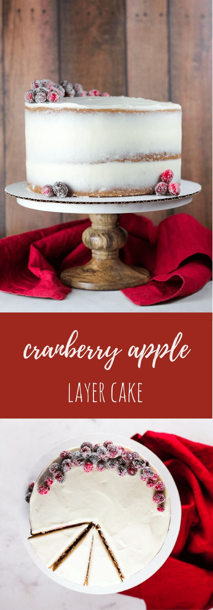 Cranberry Apple Cake with Cream Cheese Frosting