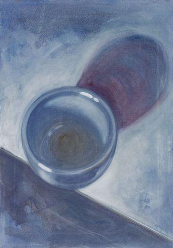 """""""Ciò che manca parte 3"""" 2012, pastello e olio su tela, cm 35 x 25"""