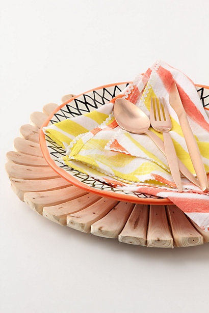 Aster Bloom Charger from Anthropologie