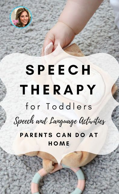 Speech Therapy for Toddlers! speech and language activities you can try at home!