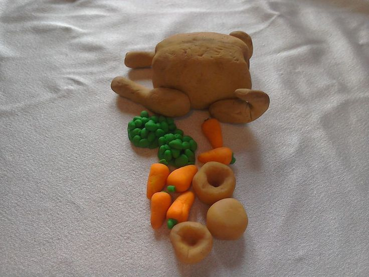 Turkey roast food for 12 inch dolls,barbie or monster high