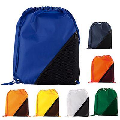SPORTY BAG POCKET II REF:DIV-486   En Poliéster, Bolsillo Triangular en Malla, con Cierre de Cremallera Cordón para Cerrar y Colgar. Tipo de Producto: IMPORTADO. Medidas: 42 cm alto x 33 cm ancho (No Incluye Cordón para Colgar). Área de Marca: 10 cm x 4 cm. Técnica de Marca: Screen. Colores Disponibles: Amarillo, Azul Oscuro, Azul Royal, Blanco, Naranja, Rojo y Verde.