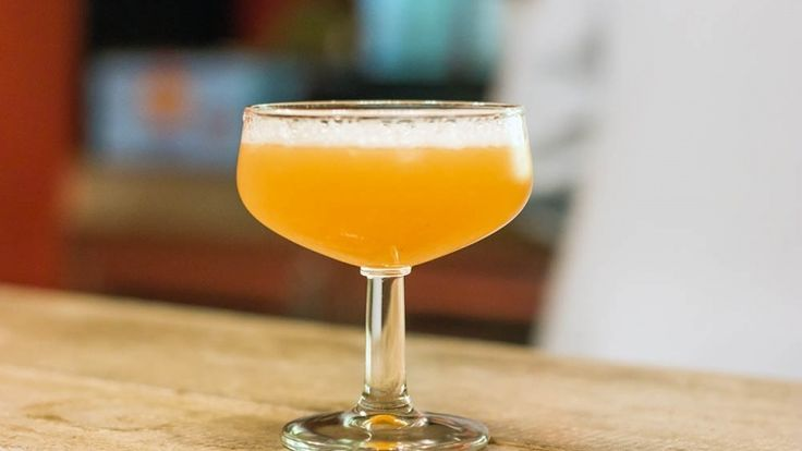 Space Monkey cocktail, a delicious drink with whiskey orange juice coconut water