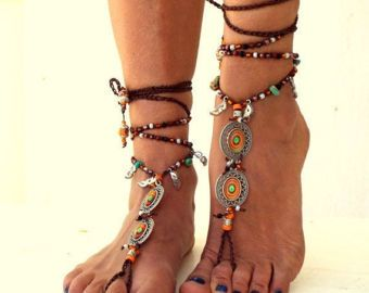 Barefoot Sandals women's shoes  Beach Jewelry by SantoriniBarefoot