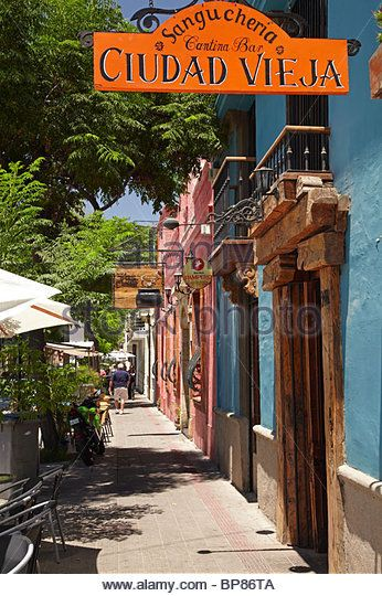 Ciudad Vieja Restaurant and Bar, Bellavista, Santiago, Chile, South America - Stock Image