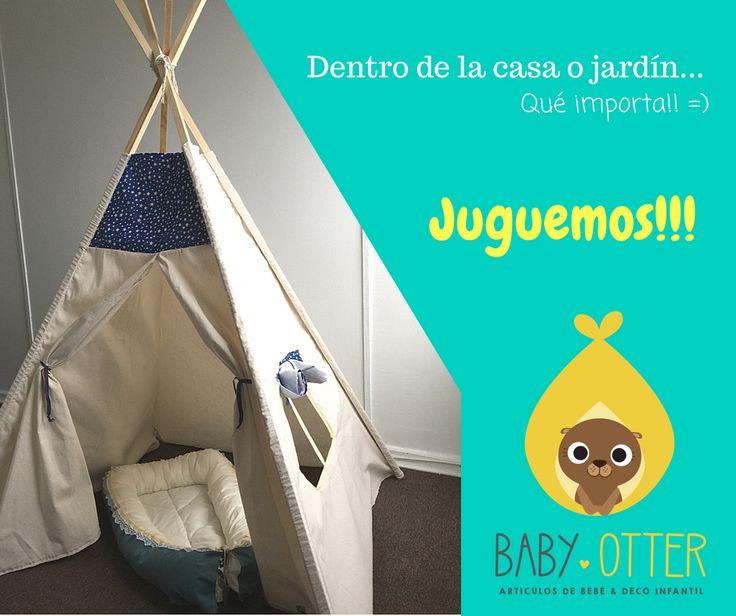 Tipi, tepee, carpa de indio para jugar.  Baby Otter Chile hace que la imaginación de tu bebé empiece a volar!  tú la diseñas, nosotros la creamos.  desde $45.000CLP