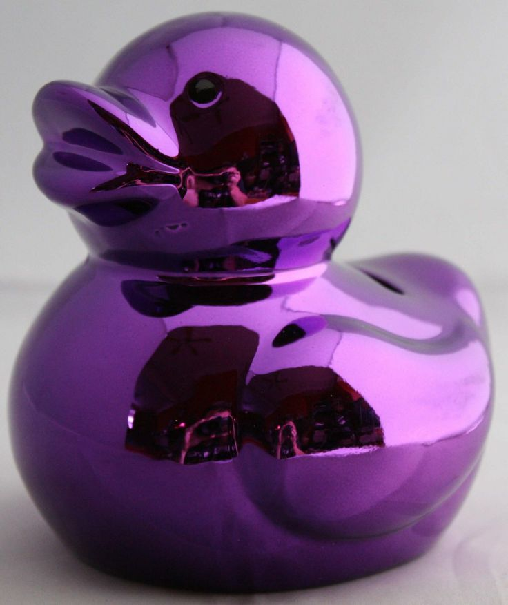 Metallic Purple Duck Piggy Bank Money Box: Amazon.co.uk: Kitchen & Home