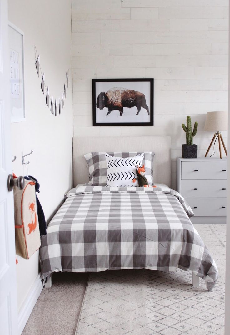 Modern Rustic Boys Bedroom- One Room Challenge THE REVEAL