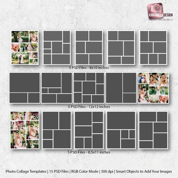 Photo Collage Templates Bundle 15 Files Wedding Collages Digital Storyboard Photo Collages Photography Template Blog Board Digital Collages Photo Collage Template Photo Collage Collage Template