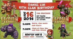 Clash of Clans Birthday Invitation / Party E-Invite by Sugarena
