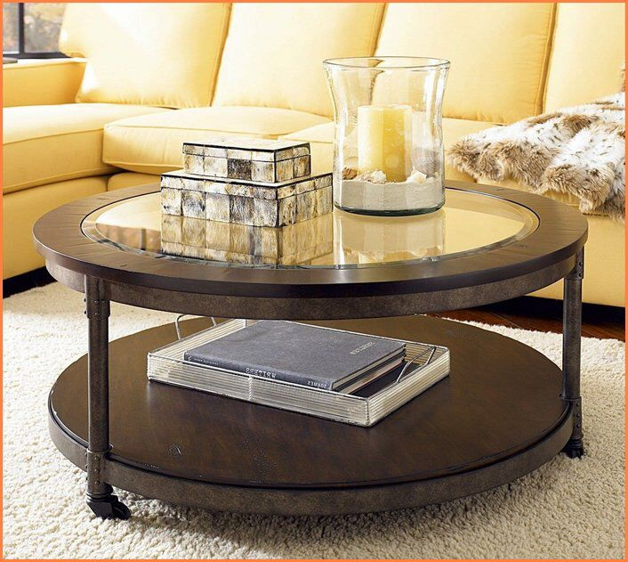 Furniture Round Coffee Table Glass Top Bookshelf Yellow Sofa Living Room  Design Tile Carpet Textured Table, Main Part Of Your