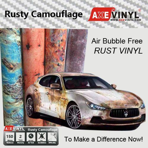 rust vinyl rusty camouflage vinyl