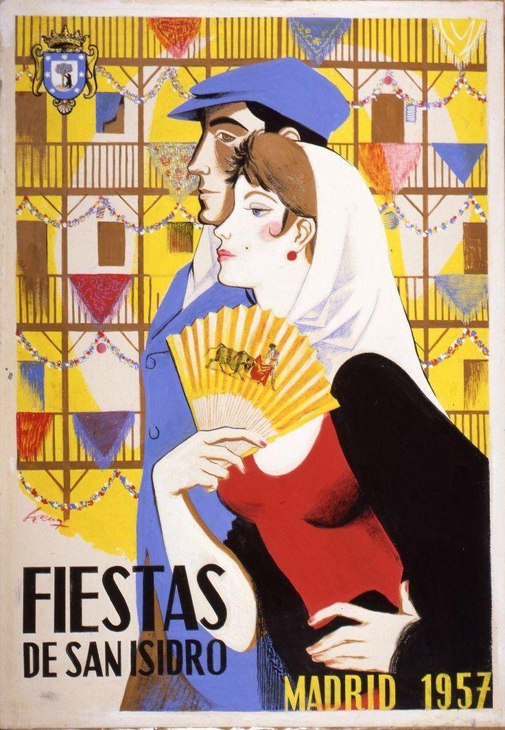 1957 - Chulapa y chulapo - Fiestas de San Isidro - Madrid, Spain