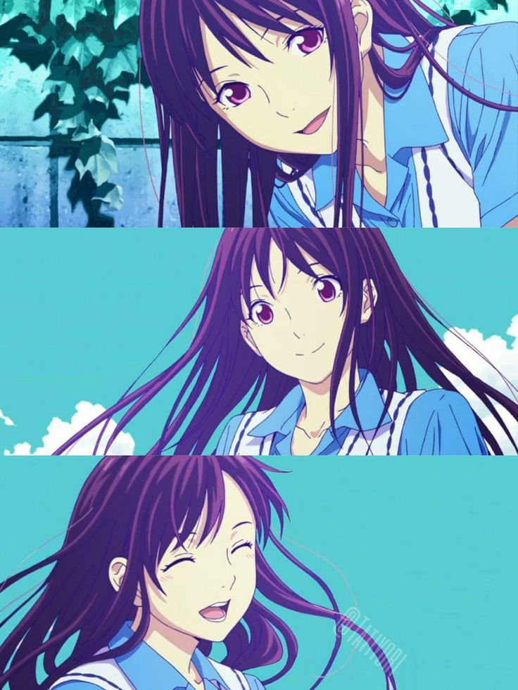 "Hiyori from ""Noragami Aragoto"". My first impression of this character was actually very clumsy and cute. She's not afraid to take action, and she never gives up. She's a very strong willed girl ♥ (SYL)"