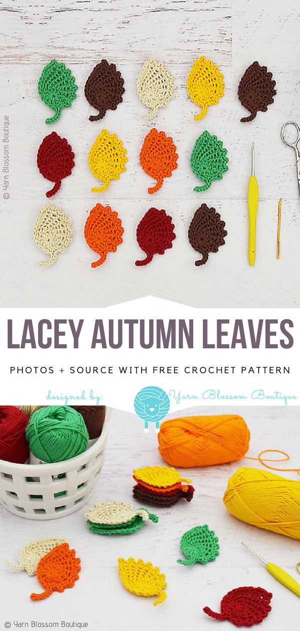 Lacey Autumn Leaves Free Crochet Pattern | Manualidades | Pinterest ...