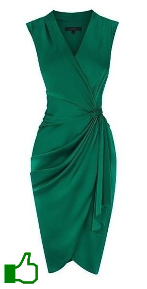 Another green dress, although I would have to wear a shrug over my arms.
