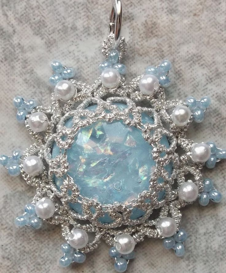 West Pine Creations: Cool...nice cool, icy pendent to cool you down on a hot, summers day.