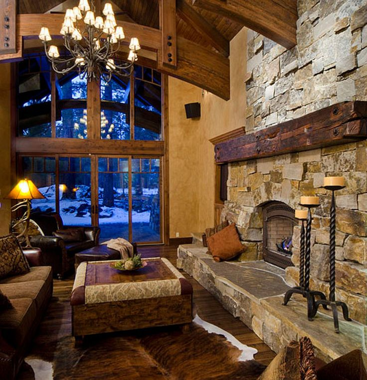 Cozy Rustic Living Room Fireplaces: 61 Best Fireplaces Stone Vener Images On Pinterest