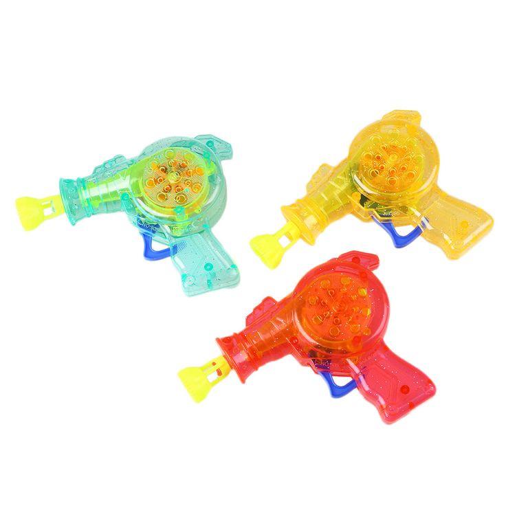 СВЕТОДИОД, Просвечивающий Пузырь Пистолет Мыльные Пузыри Мыльные пузыри На Открытом Воздухе Детей Игрушки для Детей Цвет Случайный Детские Игрушки Водяной Пистолет Игрушки