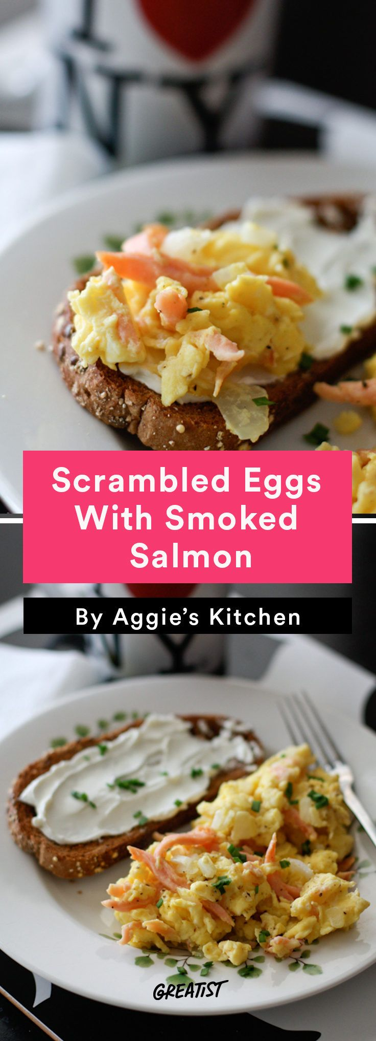 4. Scrambled Eggs With Smoked Salmon #Greatist http://greatist.com/eat/scrambled-egg-recipes-to-keep-breakfast-interesting