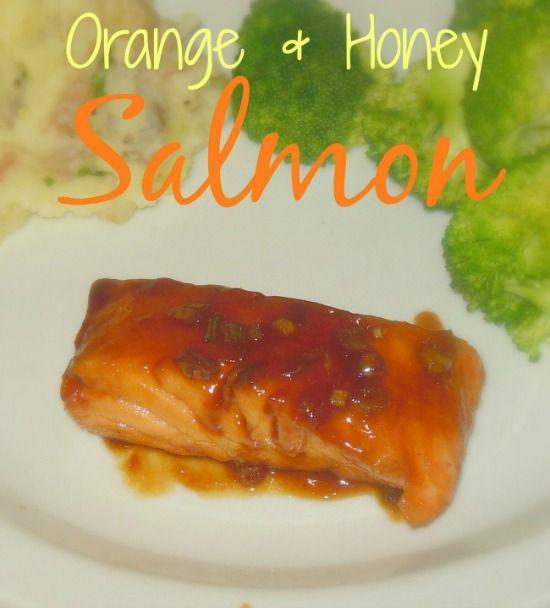Orange and Honey Seared Salmon on MyRecipeMagic.com. Marinated in ...
