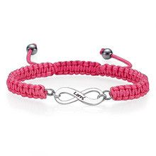 Personalised Friendship Infinity Bracelet - available in pink and blue