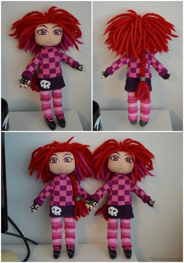 I recently made 2 punk Giana dolls simultaneously from scratch and sent the other one to Black Forest Games, the company who made Giana Sisters: Twisted Dreams. These took me about a week in total ...