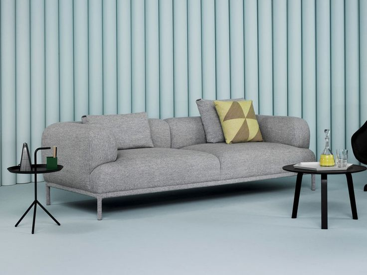 The Hay Bjorn Upholstered Sofa With Fixed Covers Is A Minimalist Expression  Piece, With An