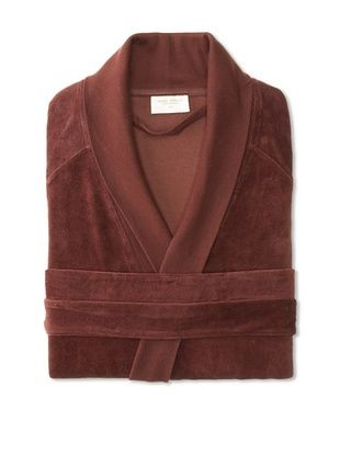 55% OFF Nine Space Organic Cotton Velour Robe (Chocolate)