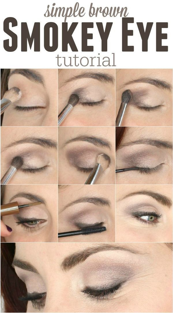 The easiest smokey eye tutorial using only 4 colors in one palette!! It's a nice smokey brown and not too dark.