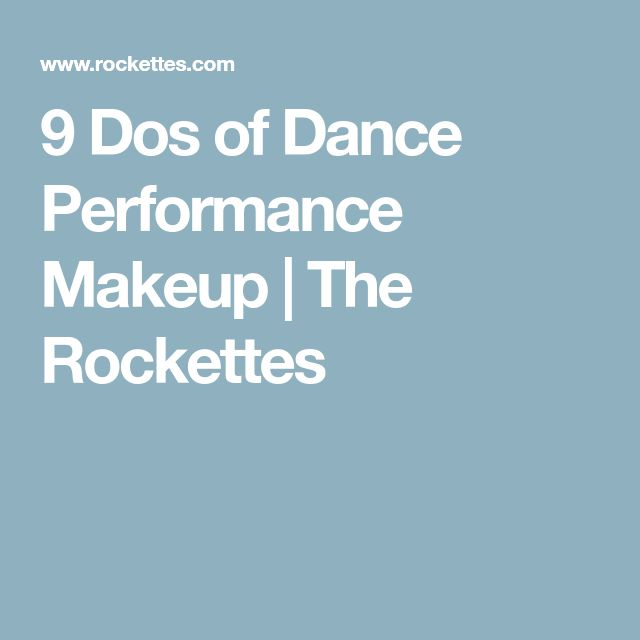 9 Dos of Dance Performance Makeup | The Rockettes