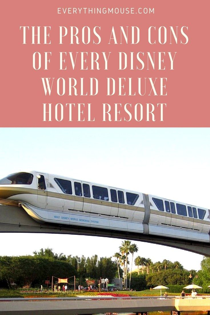 Disney World Resorts | Here is a guide to the Pros and Cons of Every Disney World Deluxe Hotel Resort.