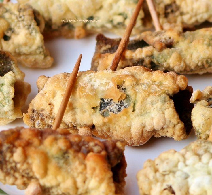 Recept: Gefrituurde salieblaadjes gevuld met ansjovis - il Tramonto