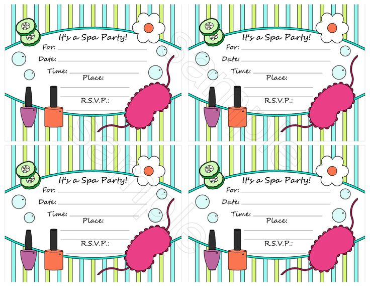The 25 best Spa party invitations ideas – Sleepover Party Invitations Templates
