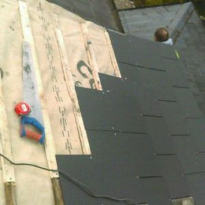 lats and felt repairs on old roof