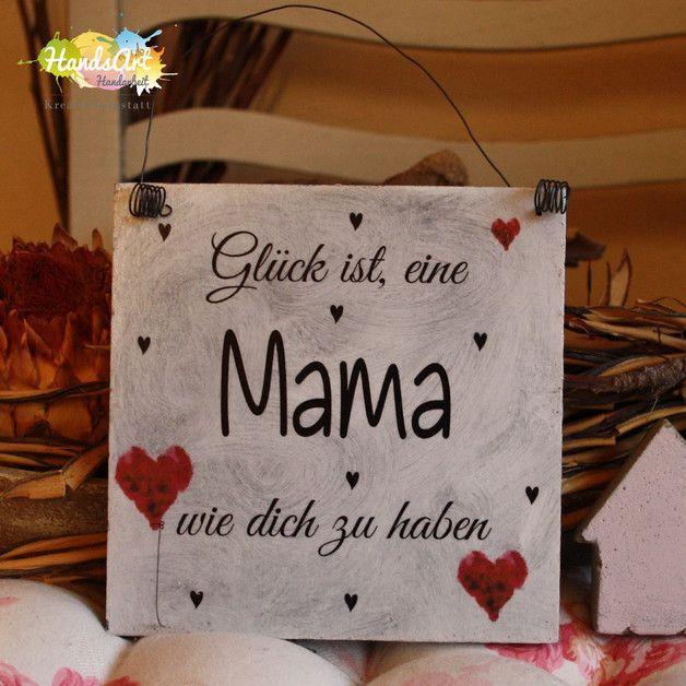 Danke Mama /& Papa... Shabby Style Holzschild Geschenk Deko HandsArt ICH