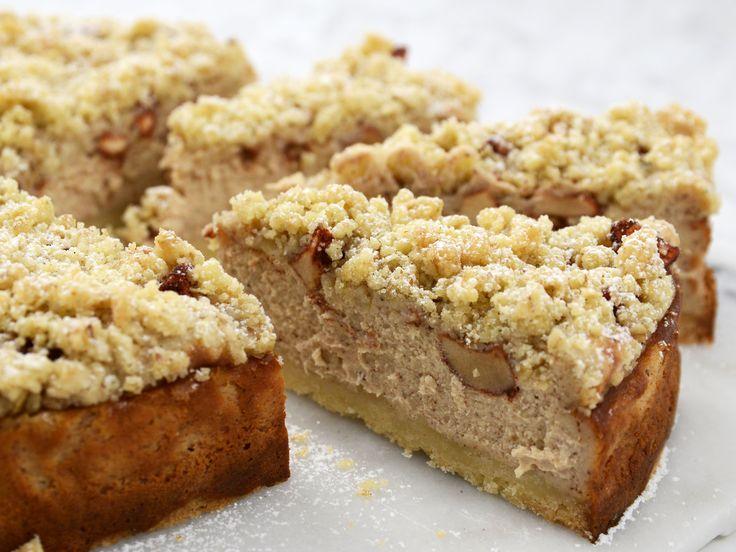 Äppelcheesecake med smuldeg | Recept från Köket.se